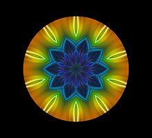 Colour Rays Kaleidoscope Throw Pillow 03 by fantasytripp