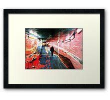 Tunnel Murder Framed Print
