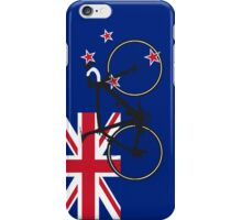 Bike Flag New Zealand (Big - Highlight) iPhone Case/Skin