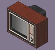 Retro Woodgrain TV Kids Tee