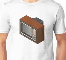 Retro Woodgrain TV Unisex T-Shirt