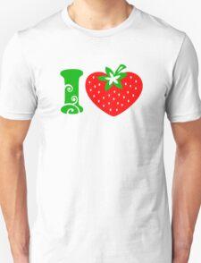 Strawberry Heart - Go Vegan Unisex T-Shirt