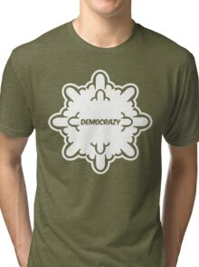 democrazy 2010 - promotional shirt - v1.0 invert Tri-blend T-Shirt