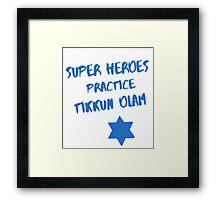 Superheroes Heal the World Framed Print