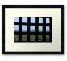 A Prisoners view of the Taj Mahal Framed Print