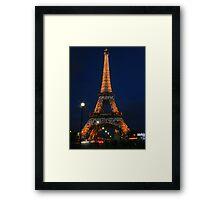 The City of Lights Lights Up Framed Print