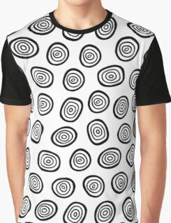 Simple doodle circle  pattern Graphic T-Shirt