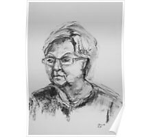 Elderly Lady With Glasses Poster
