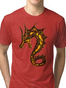 Dragon, Tattoo Style, Fantasy Tri-blend T-Shirt