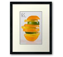 Orang-Lem-Lime Framed Print