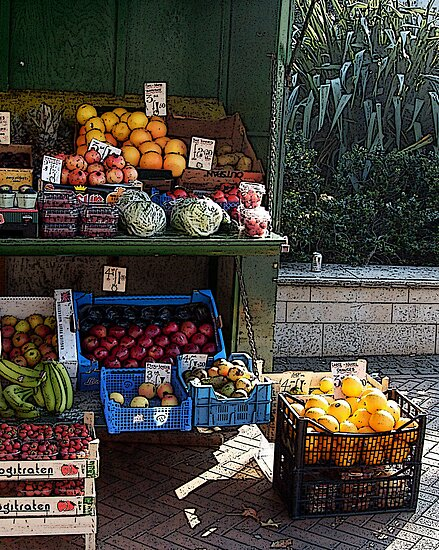 The fruit & veg stall by Roxy J