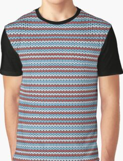 Striped knitting pattern Graphic T-Shirt