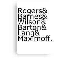 Team Rogers Canvas Print