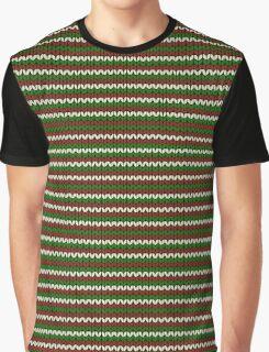 striped christmas knitting pattern Graphic T-Shirt