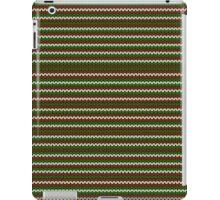 striped christmas knitting pattern iPad Case/Skin