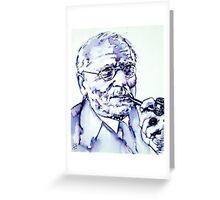 CARL GUSTAV JUNG - portrait Greeting Card