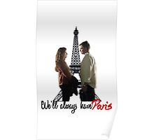 Tony and Ziva - We'll always have Paris Poster