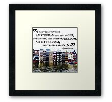 Amsterdam John Green Quote Framed Print