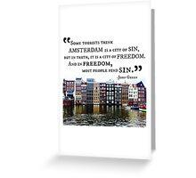 Amsterdam John Green Quote Greeting Card