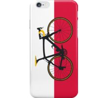 Bike Flag Poland (Big - Highlight) iPhone Case/Skin
