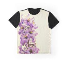 Purple Larkspur Delphinium Graphic T-Shirt