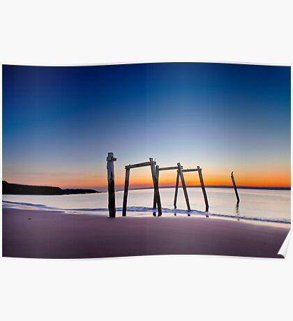 Sunset at Cat Bay Phillip Island, Victoria, Australia Poster