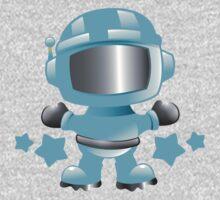 Little cute Space man in a Blue space suit Kids Tee