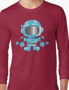Little cute Space man in a Blue space suit Long Sleeve T-Shirt