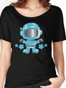 Little cute Space man in a Blue space suit Women's Relaxed Fit T-Shirt