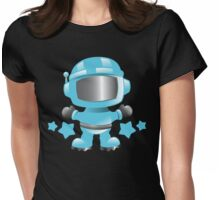 Little cute Space man in a Blue space suit Womens Fitted T-Shirt