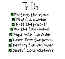 Harry Potter Checklist Photographic Print