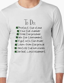 Harry Potter Checklist Long Sleeve T-Shirt