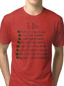 Harry Potter Checklist Tri-blend T-Shirt