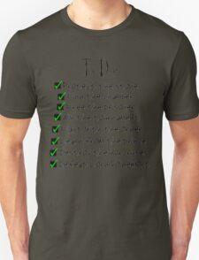 Harry Potter Checklist T-Shirt
