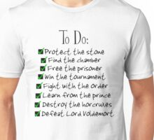 Harry Potter Checklist Unisex T-Shirt