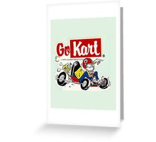 QVHK Go Kart Greeting Card