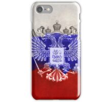 Russia Flag Paint Grunge Design iPhone Case/Skin