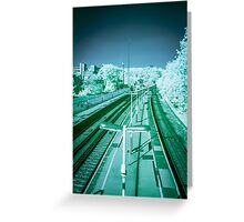 Infra-Red Train Station Greeting Card