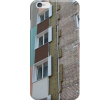 Thermal insulation of a house wall iPhone Case/Skin