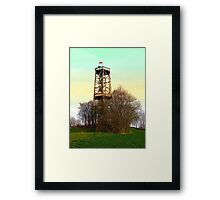 Observation tower in vivid colors | architectural photography Framed Print