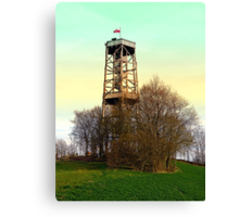 Observation tower in vivid colors | architectural photography Canvas Print