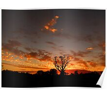 Cloudy May Sunset Panorama Poster