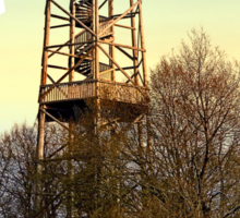 Observation tower in vivid colors | architectural photography Sticker