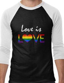 Love is LOVE (2) Men's Baseball ¾ T-Shirt