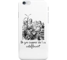 Do you suppose she's a wildflower? Original illustration.  iPhone Case/Skin