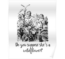 Do you suppose she's a wildflower? Original illustration.  Poster