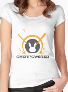 OverPowered D'va Exploding Mech Women's Fitted Scoop T-Shirt