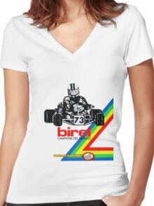 QVHK Birel Women's Fitted V-Neck T-Shirt
