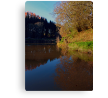 Romantic evening at the pond | waterscape photography Canvas Print