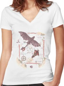 How to train your dragon Women's Fitted V-Neck T-Shirt